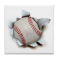 Baseball Burster Tile Coaster