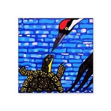 """Blandings Turtle and Whoopi Square Sticker 3"""" x 3"""""""