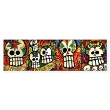 Sugar Skulls Mug Wrap Around Bumper Bumper Sticker