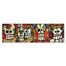 Sugar Skulls Mug Wrap Around Bumper Sticker