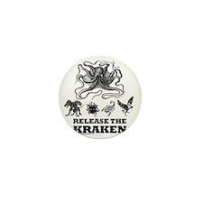 kraken and mythological beasts Mini Button