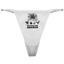 kraken and mythological beasts Classic Thong