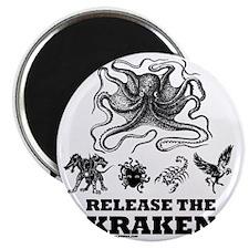 kraken and mythological beasts Magnet