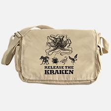 kraken and mythological beasts Messenger Bag