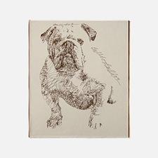 English_Bulldog_Kline Throw Blanket