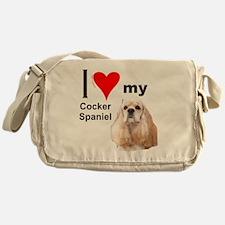 Ilovemycockerspanielcreme3 Messenger Bag