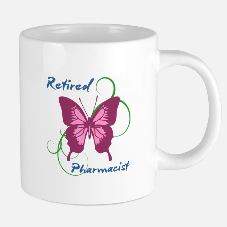 Retired Pharmacist (Butterfly) Mugs