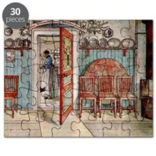Carl Larsson painting: Old Anna Puzzle
