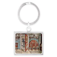 Carl Larsson painting: Old Anna Landscape Keychain