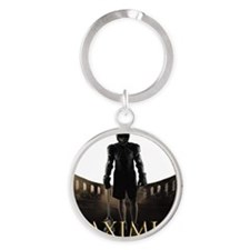 Laximus - Are you not entertained? Round Keychain