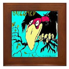 buzzard (2) Framed Tile
