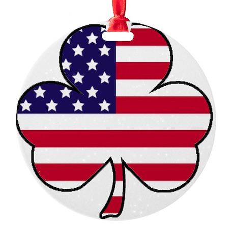 American shamrock Round Ornament
