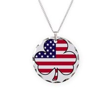 American shamrock Necklace Circle Charm