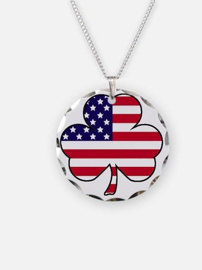 American shamrock Necklace Circle Charm