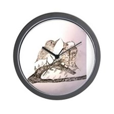 TomerTal two birds Wall Clock