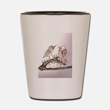 TomerTal two birds Shot Glass