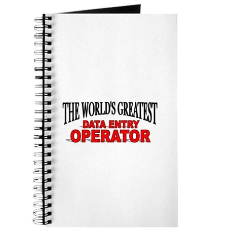 """""""The World's Greatest Data Entry Operator"""" Journal"""