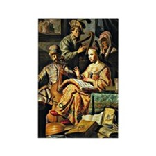 Rembrandt - Musical Allegory Rectangle Magnet