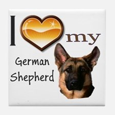 Ilovemygermanshephardwords Tile Coaster