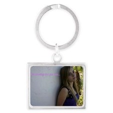 hes looking for me Landscape Keychain