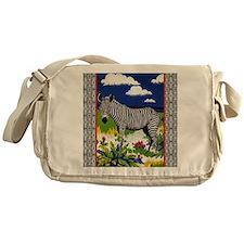 FIN-zebra-PILLOW Messenger Bag