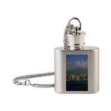 acapulco label2.5x3.5 Flask Necklace