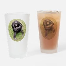 Smiling chimp Drinking Glass