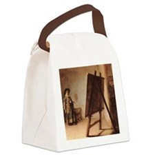 Rembrandt - Artist in his Studio Canvas Lunch Bag