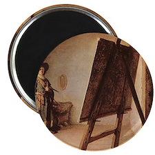 Rembrandt - Artist in his Studio Magnet
