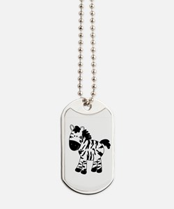 Zebra Standing Up Dog Tags