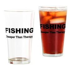 FISHING. Cheaper than Fishing. Drinking Glass
