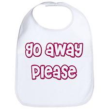 Go Away Please Bib