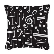 Music Lover Musical Symbols Woven Throw Pillow