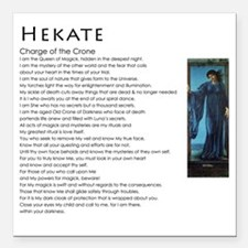 """Charge of the Crone Heka Square Car Magnet 3"""" x 3"""""""