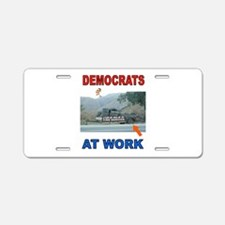 FLAT TIRE DEMOCRATS Aluminum License Plate