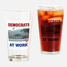 FLAT TIRE DEMOCRATS Drinking Glass