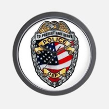 Police To Protect and Serve Wall Clock