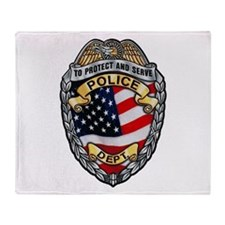 Police To Protect and Serve Throw Blanket