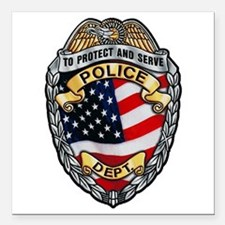 "Police To Protect and Serve Square Car Magnet 3"" x"
