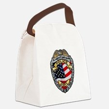 Police To Protect and Serve Canvas Lunch Bag