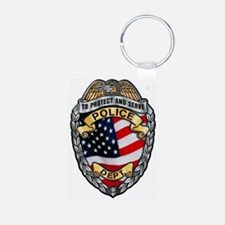 Police To Protect and Serve Keychains