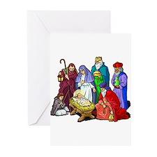 Christmas Nativity Scene Greeting Cards