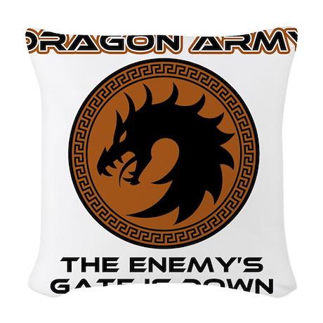 Ender Dragon Army Woven Throw Pillow