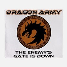 Ender Dragon Army Throw Blanket