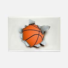 Basketball Burster Rectangle Magnet (100 pack)