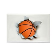 Basketball Burster Rectangle Magnet (10 pack)