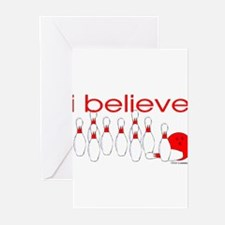 I believe in bowlin Greeting Cards