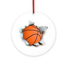 Basketball Burster Ornament (Round)