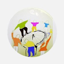 TomerTal dancing cyrcle Round Ornament