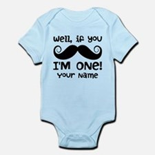 1st Birthday Mustache Personalized Infant Bodysuit